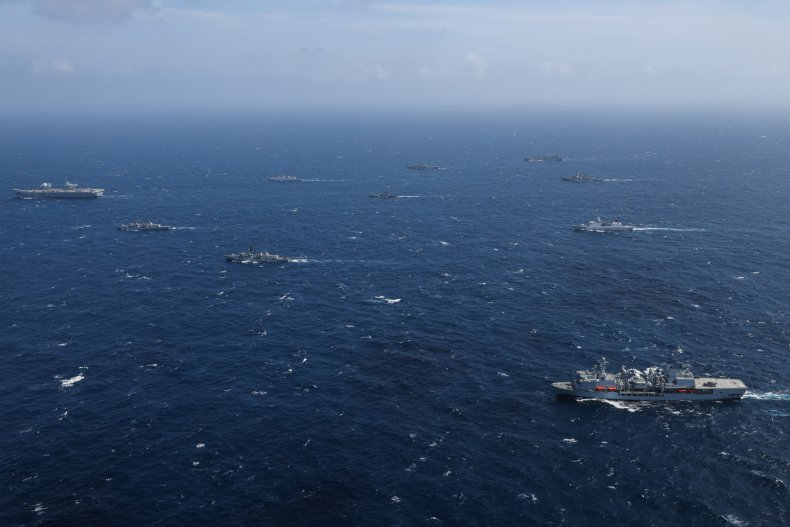 UK Carrier Group In Indian Ocean Exercise