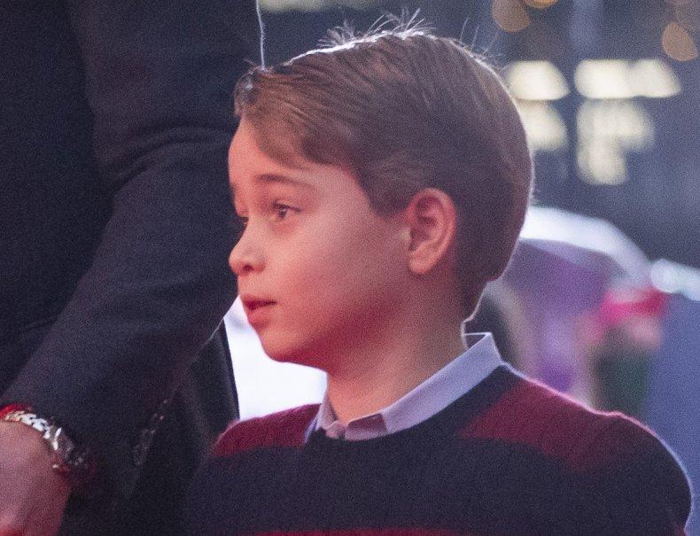 Prince George at Christmas Pantomime