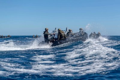 U.S. Marines Drills In South Pacific