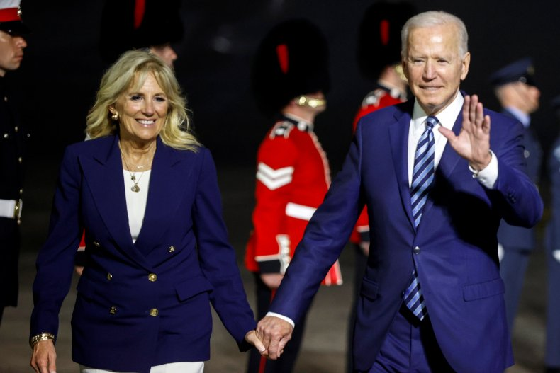 Joe and Jill Biden Arrive in England