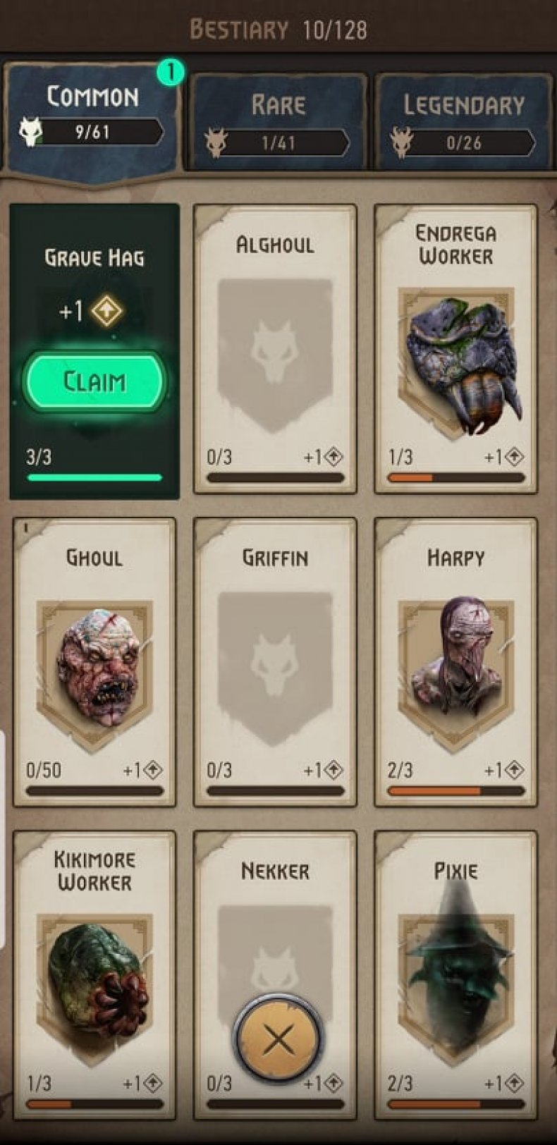 The Witcher: Monster Slayer Bestiary Rewards