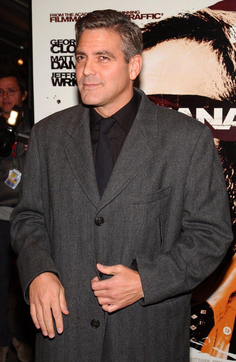 """George Clooney attends the premiere of """"Syriana."""""""