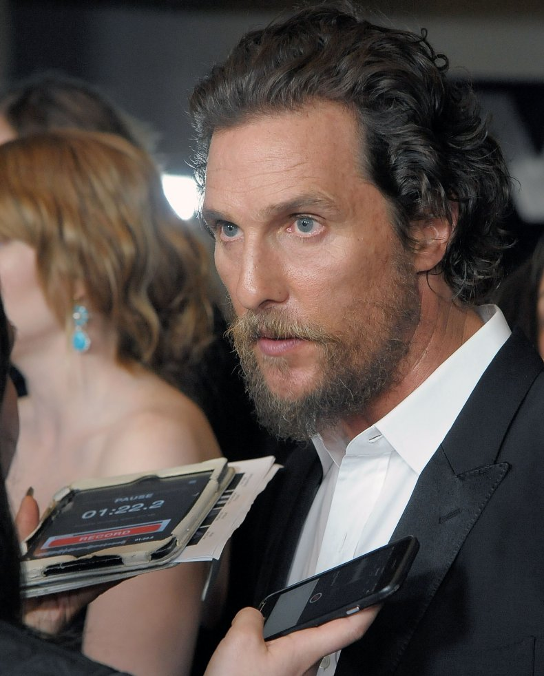 """Matthew McConaughey at the """"Gold"""" premiere."""