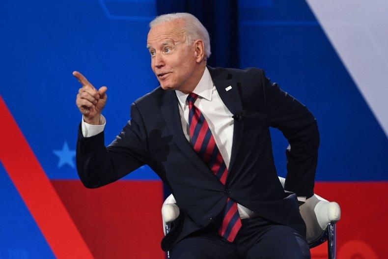 President Joe Biden at CNN Town Hall