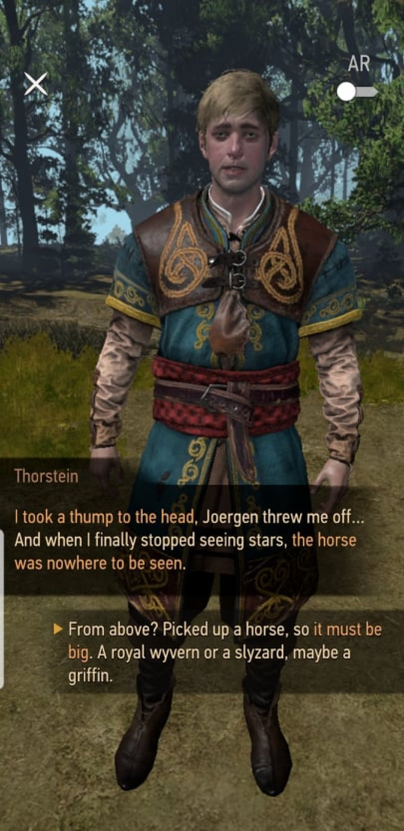 Thorstein in the Witcher: Monster Slayer
