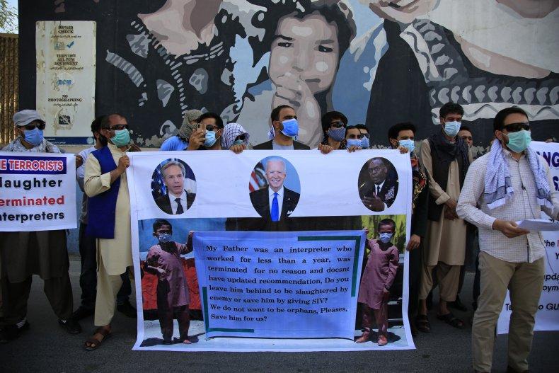 Former Afghan Interpreters Demonstrate Against U.S.