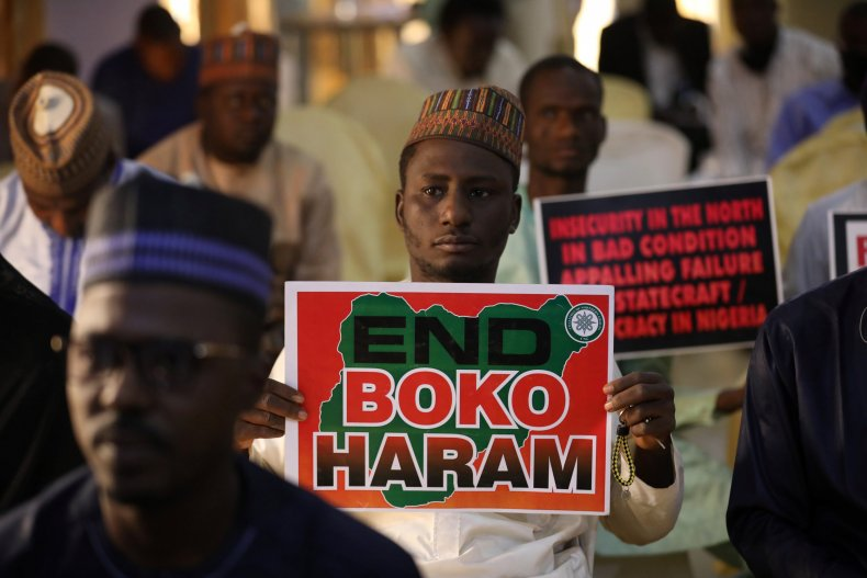 """End Boko Haram"" sign"