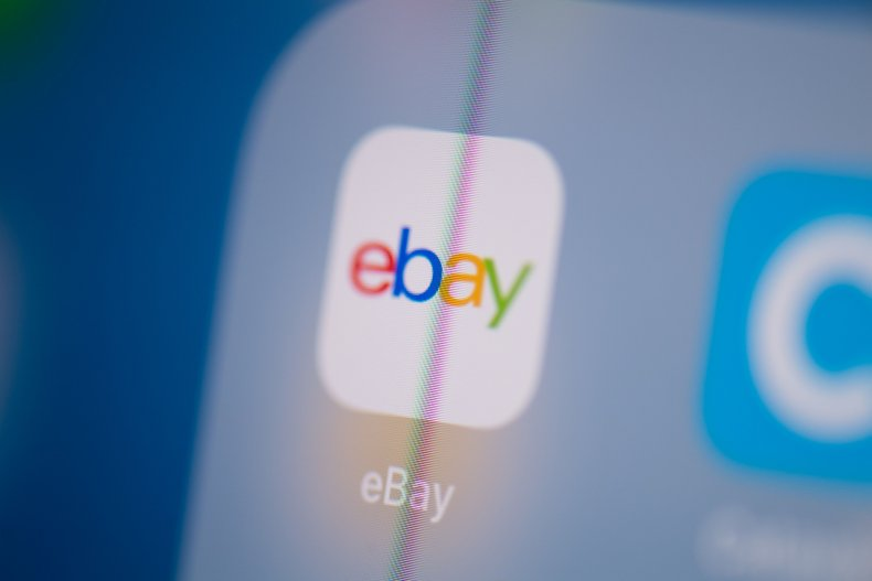 The eBay icon displayed on a screen.