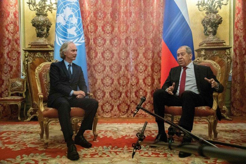 UN, envoy, Pedersen, Russia, Lavrov, Moscow