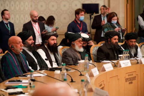 Afghan, former, President, Karzai, Taliban, Baradar, Moscow