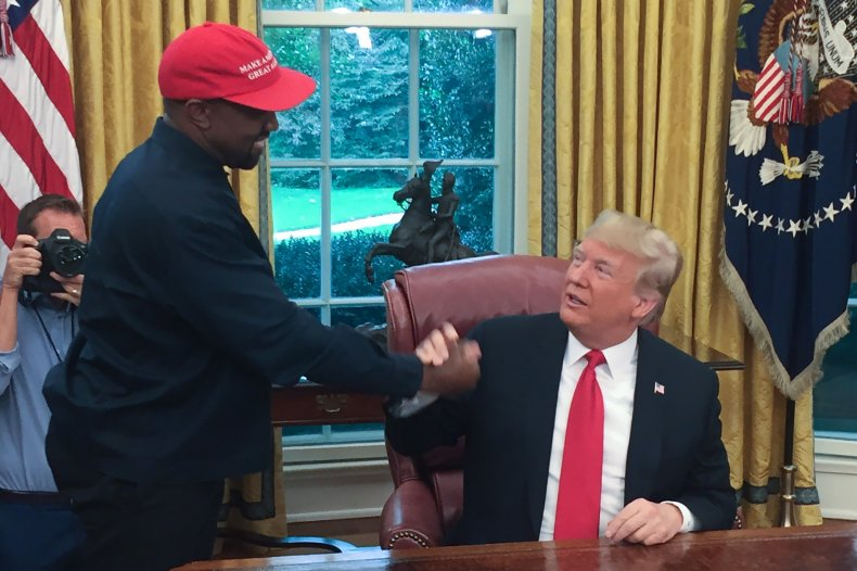 Kanye West and former President Donald Trump