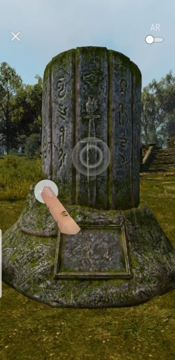Interacting With the Stone Monolith