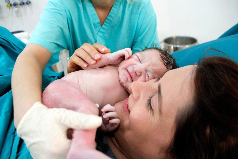 childbirth, stock, getty