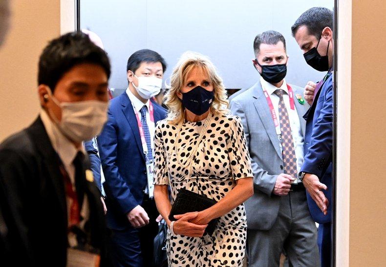Jill Biden arrives for Tokyo Olympics ceremony