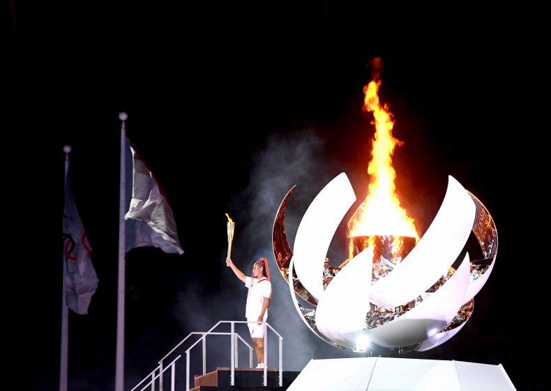 naomi osaka olympic cauldron