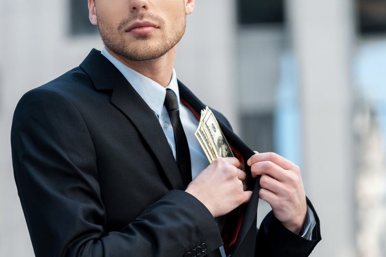 Embezzlement stock image