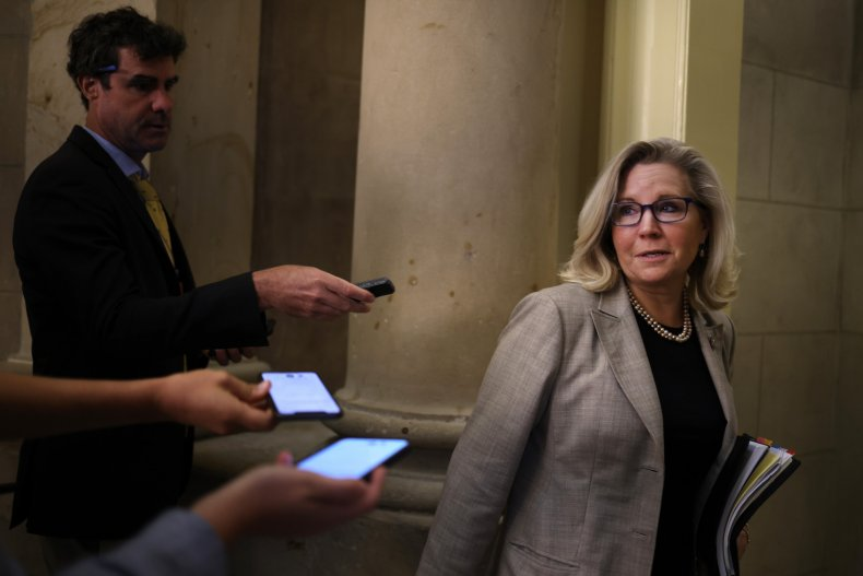 Liz Cheney arrives at committee meeting