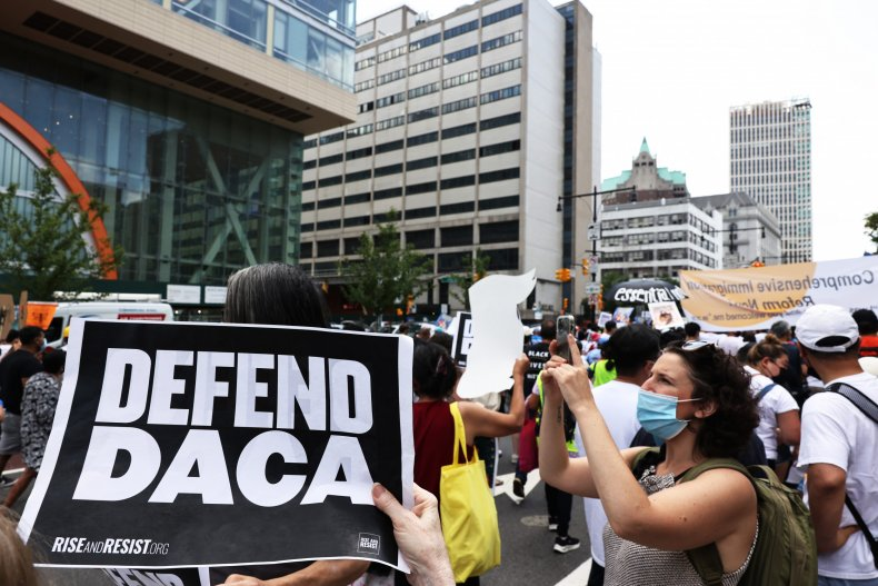 Defend DACA Sign at NYC Rally