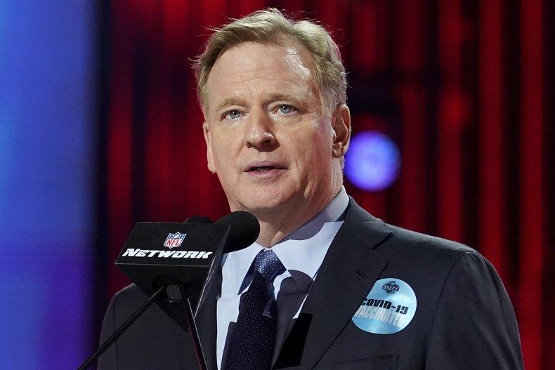 NFL commissioner Roger Goodell at Draft