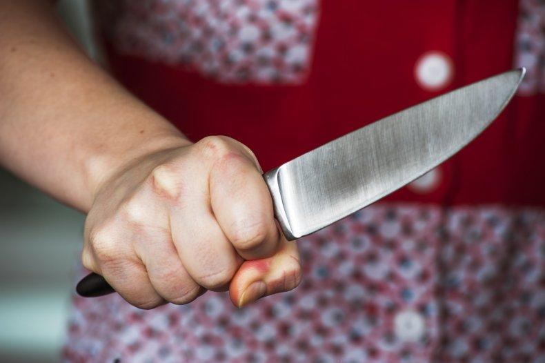 white woman knife black boy playground video