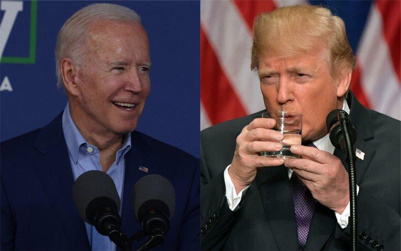 President Joe Biden mocks Donald Trump.