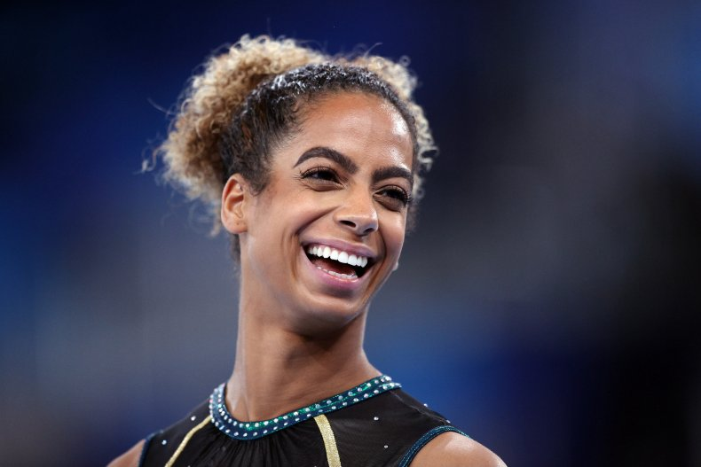 Danusia Francis smiles during Olympic training.