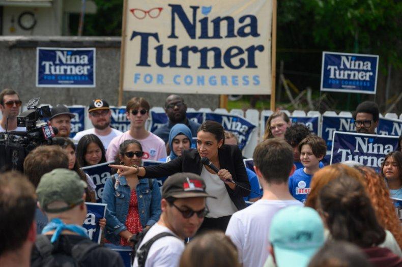 AOC stumping for NIna Turner
