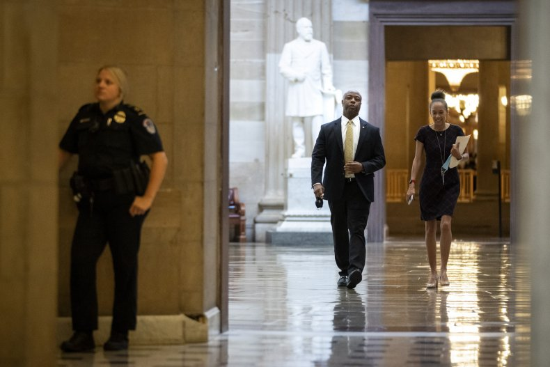 Tim Scott police reform bill demonize officers