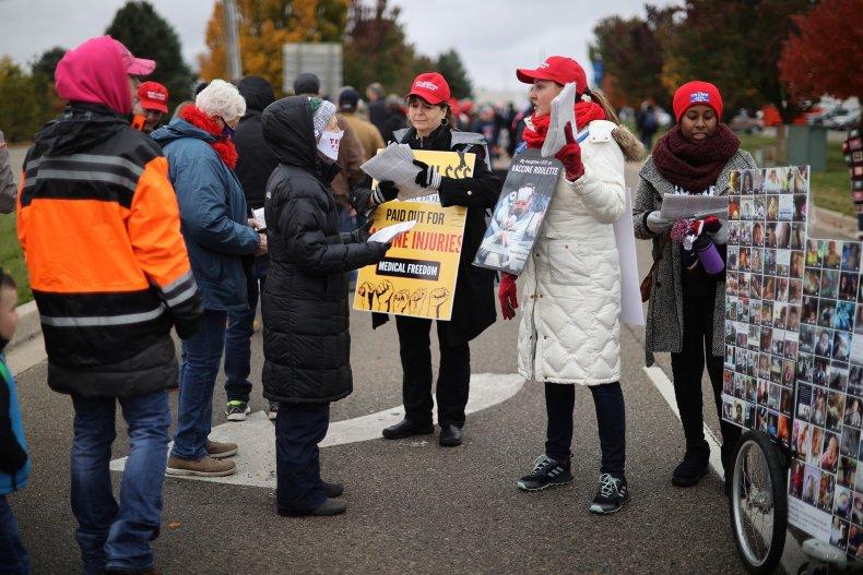Anti-vaccine protesters