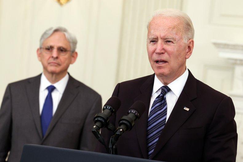 Joe Biden Merrick Garland gun violence rise
