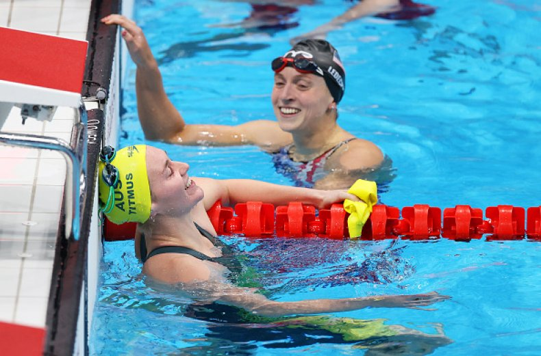 Katie Ledecky and Ariarne Titmus