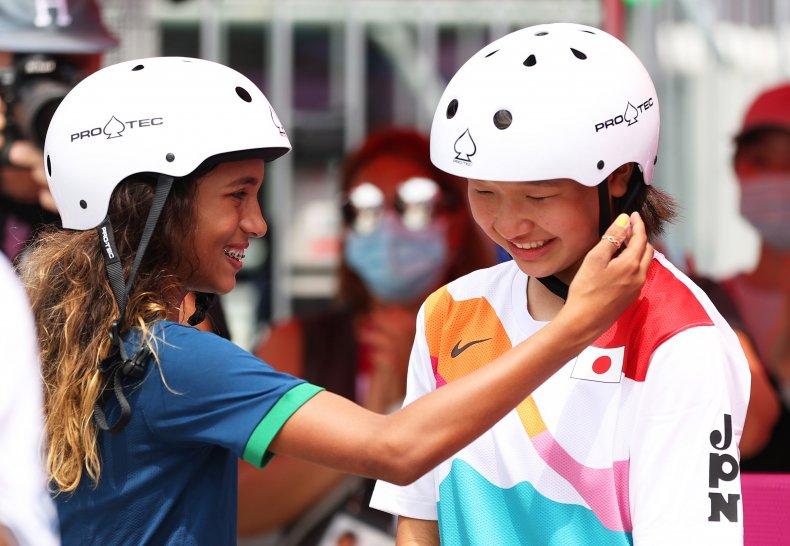 Rayssa Leal and Momiji Nishiya