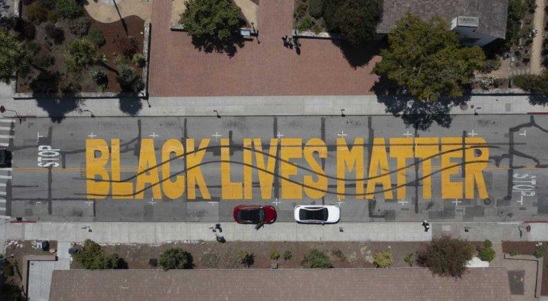 Black Lives Matter mural defaced