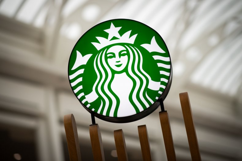 The Starbucks coffee logo.