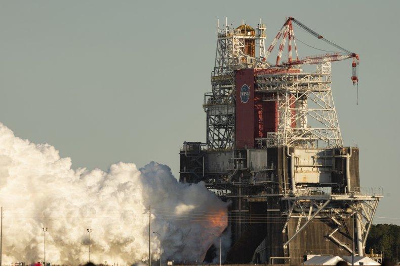 NASA rocket engine test