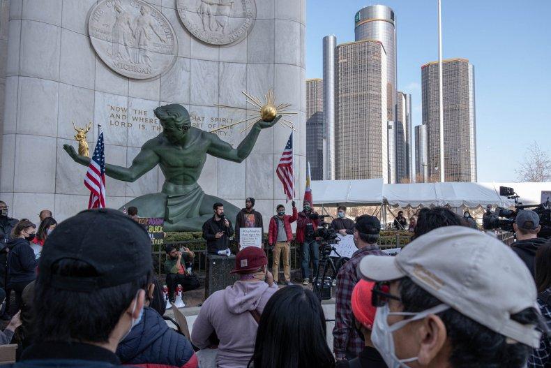 Detroit vigil shooting