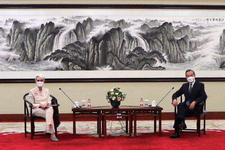 Sherman and Wang meeting in China