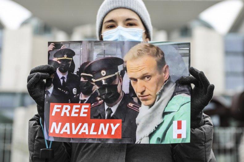 Free Navalny Protests Germany