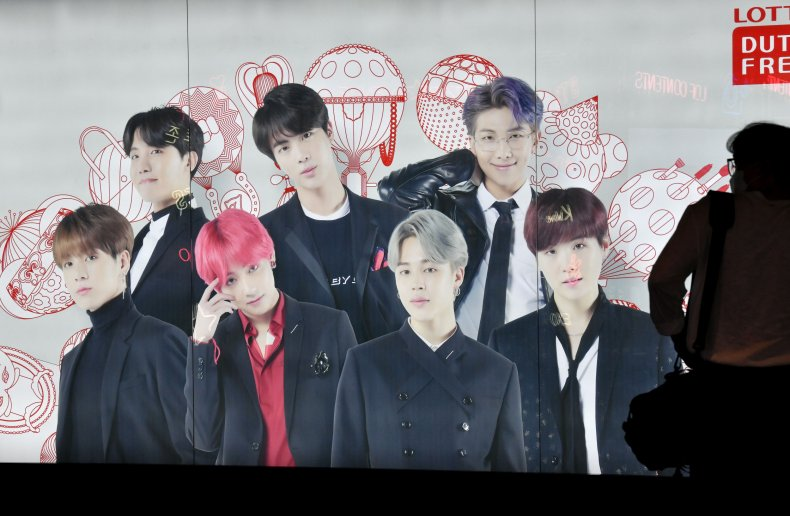 A BTS poster in Seoul, South Korea.