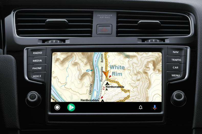 Gaia GPS Android Auto Mapping Software