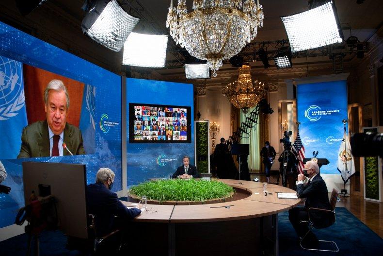 UN, Guterres, Kerry, Blinken, Biden, climate, meeting
