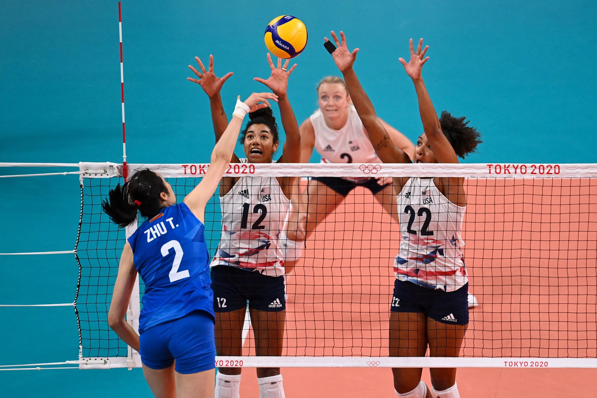 Jordan Thompson Praised As USA Women's Volleyball Defeats China At Olympics