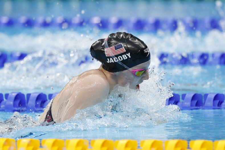 Swimmer Lydia Jacoby at Tokyo 2020.