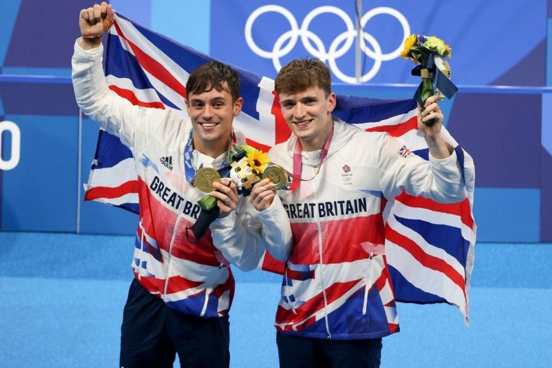 Tom Daley and Matty Lee