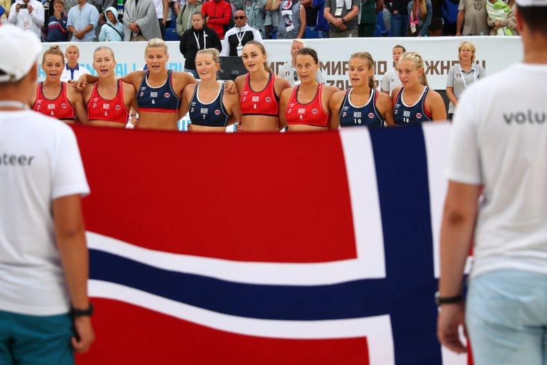 norway women's beach handball team