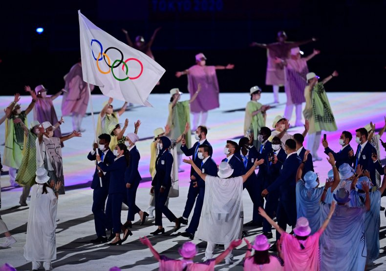 The Refugee Olympic Team at Tokyo 2020.