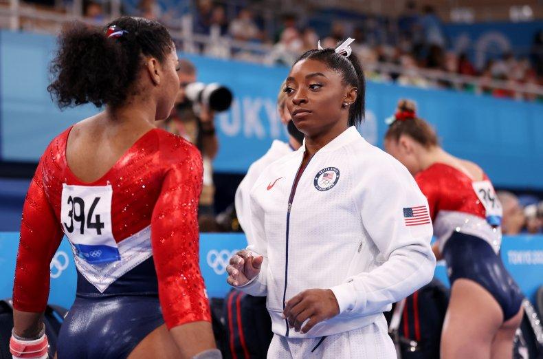 Jordan Chiles, Simone Biles at Tokyo 2020.