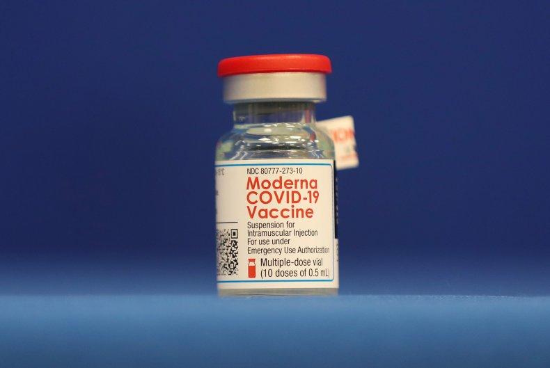COVID-19 vaccineA bottle of the Moderna