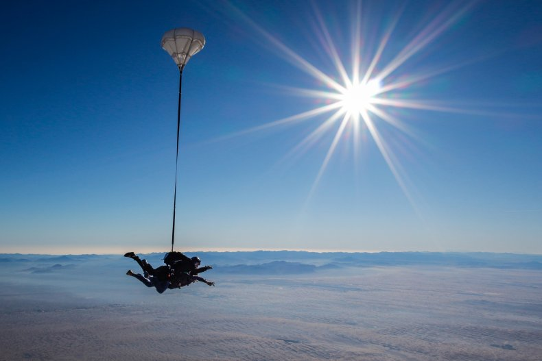 Skydiver in Dubai in generic image