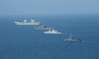 Allied Warships Conduct South China Sea Exercise
